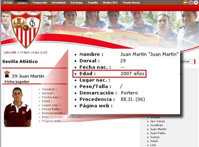 Sevilla FC: Un portero con 2007 años de edad