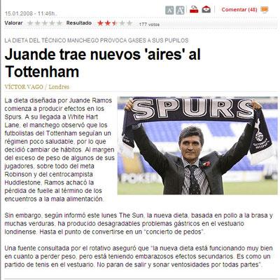 Sevilla FC: Juande llevó a White Hart Lane las victorias y los malos olores