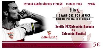 Sevilla FC: imagen de la entrada de fila 0
