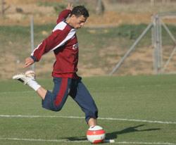 Sevilla FC: Boulahrouz durante un entrenamiento