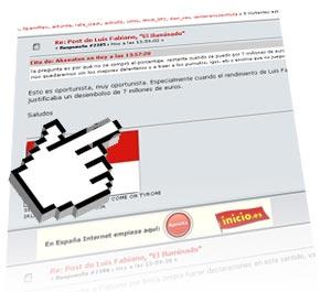 La noticia, en los foros de hastalamuerte.net