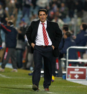 Sevilla FC: El entrenador del Sevilla, Manolo Jiménez