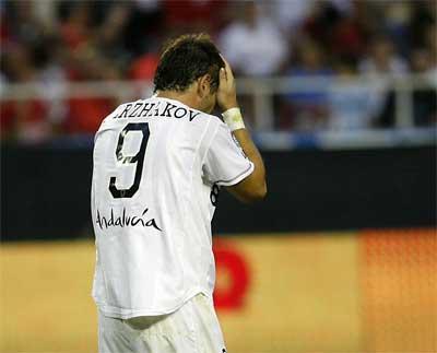 Sevilla FC: Kerzhakov, baja de última hora para Bilbao