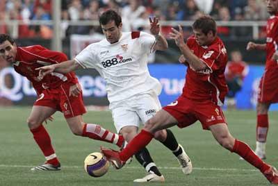 Sevilla FC: Maresca en un partido frente al Murcia
