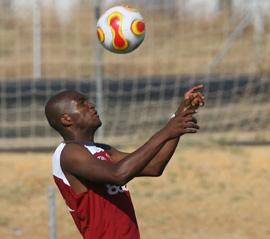 Sevilla FC: MOsquera, en un entrenamiento reciente