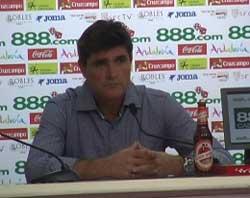 Sevilla FC: Juande, durante la rueda de prensa de hoy