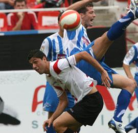 Sevilla FC: Juanjo, en un partido con el filial