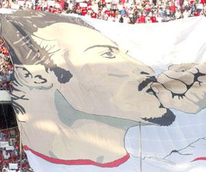 Sevilla FC: Tifo dedicado a Antonio Puerta en el gol norte de Nervión