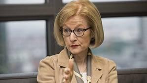 La presidenta de la supervisión bancaria unificada europea del Banco Central Europeo (BCE), Daniéle Nouy,