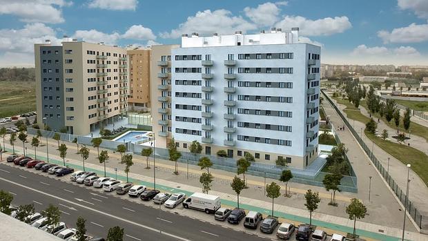 Residencial santa b rbara una ambiciosa promoci n en - Apartahotel sevilla este ...