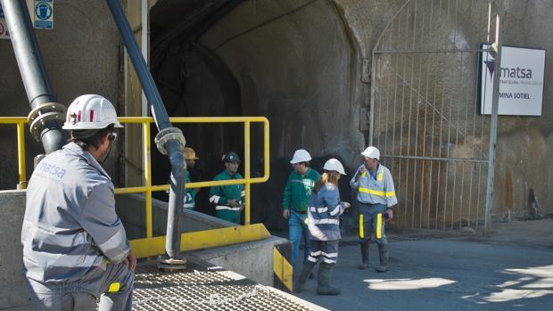 Imagen de la reapertura por Minas de Aguas Teñidas S.A. (Matsa) de la mina de Sotiel en Huelva