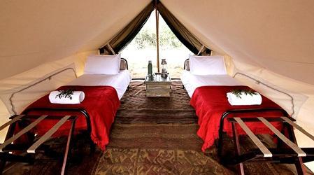 Tienda safari en la reserva natural privada de Timbavati, Sudáfrica