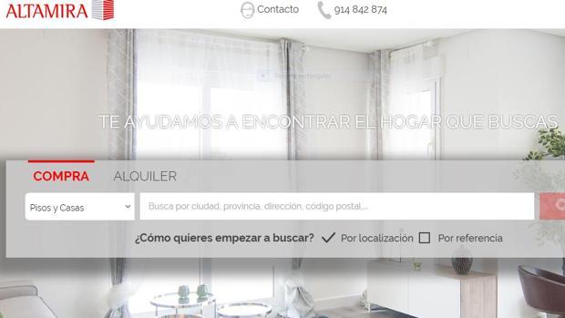 Página de la inmobiliaria Altamira