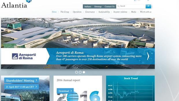 Página web de Atlantia