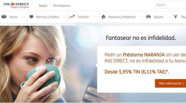 Página web de ING Direct