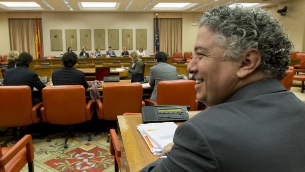 El secretario de Estado de Seguridad Social, Tomás Burgos, en una reunión del Pacto de Toledo