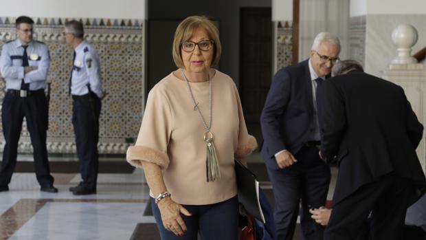 Adelaida de la Calle, en los pasillos del Parlamento