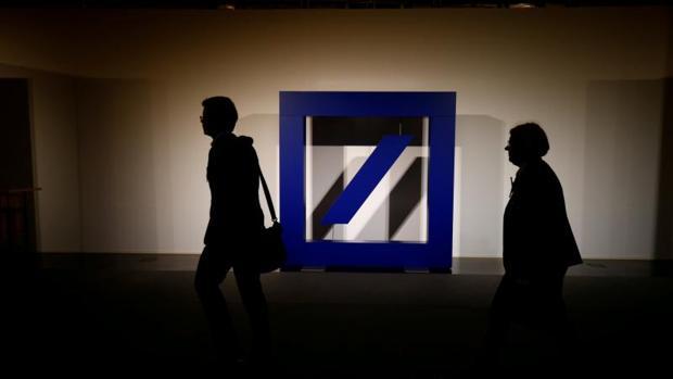 Logo de Deutsche Bank en Frankfurt