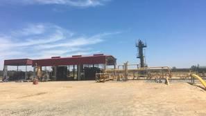 Imagen de las instalaciones de Gas Natural en el entorno de Aznalcázar