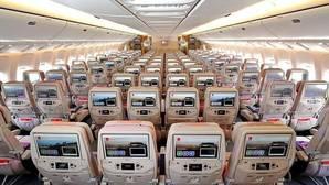 Imagen de un avión de Emirates