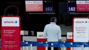 Mostradores de Air Berlin en el aeropuerto de Duesseldorf