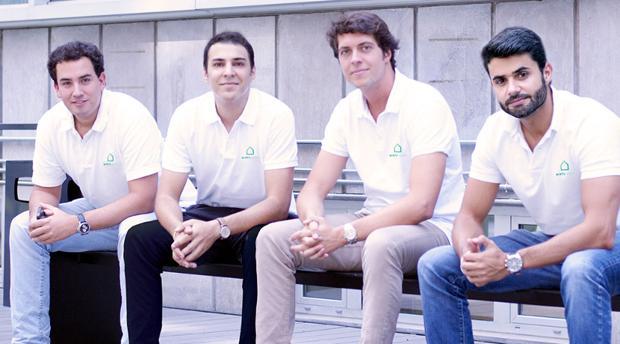 Ignacio Pérez, Pablo González, Felipe Mac-Lellan y Guillermo Martínez, socios de Minty Host