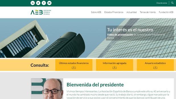 Nueva página web de la Asociación Española de Banca (AEB)