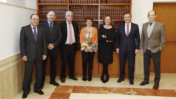 Miguel González, Alfonso Vargas, José Manuel Almendros, Teresa Álamo, Natalia González Hereza, Francisco Arteaga y José María Piñar Parias