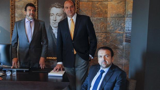 Juan Delgado, Álvaro Torres y José Delgado