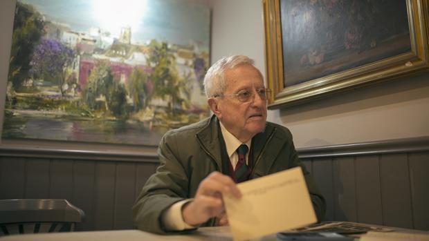 Manuel Galnares durante la entrevista