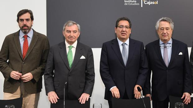 Luis Montoto, Javier Vega de Seoane, Antonio pulido y Javier Targhetta