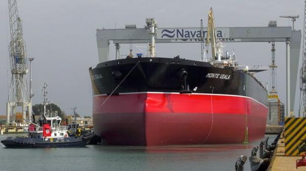 El petrolero botado hoy en Puerto Real, Cádiz