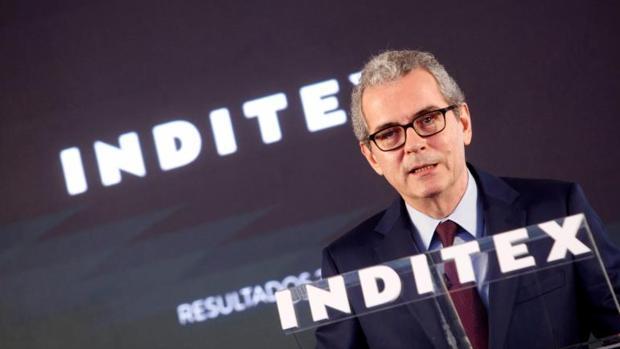 El presidente de Inditex, Pablo Isla, durante la presentación de resultados