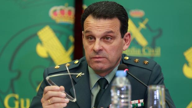 El teniente coronel Jefe Accidental de la Comandancia de la Guardia Civil de Almería, José Hernández Mosquera