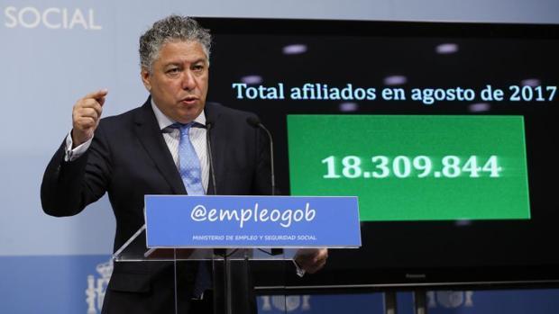 El secretario de Estado de Seguridad Social, Tomás Burgos