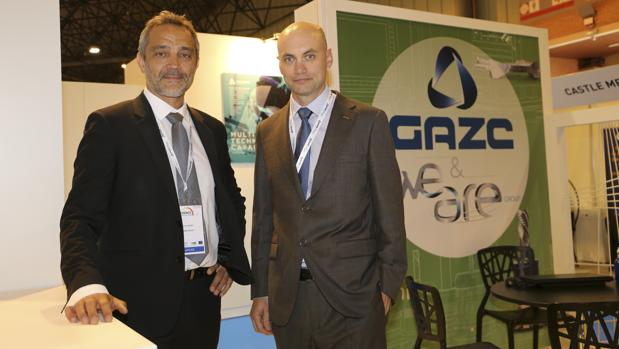 Patrice Rives, director comercial de Grupo We Are, y Eduardo Manubens, director de desarrollo de negocio de GAZC, en la ADM de Sevilla
