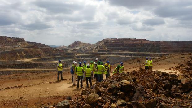 Imagen de Cerro Colorado, en Riotinto, explotado por Atalaya Mining