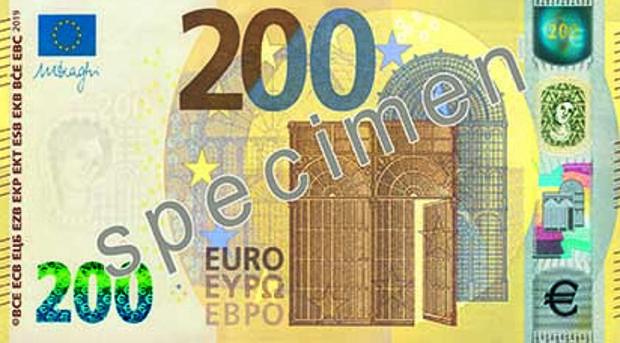 El BCE presenta los nuevos billetes de 100 y 200 euros