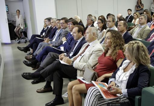 El candidato andaluz de Ciudadanos, Juan Marín, asistió a la presentación, entre otros invitados