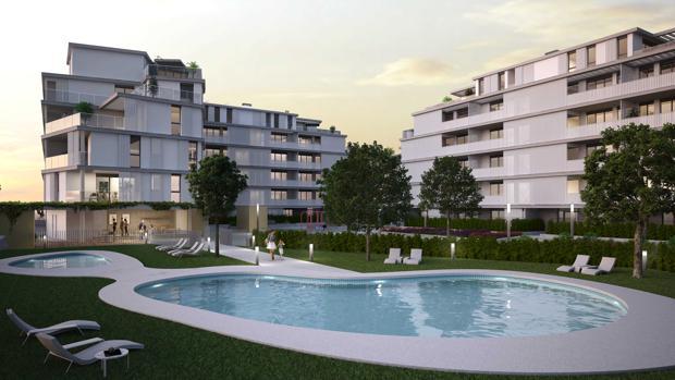 La promoción Atrium Inmobiliaria de Habitat en Sevilla