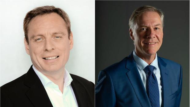 Guillaume Duverdier -a la izquierda- relevará a Richard Weissend en la presidencia de Heineken España