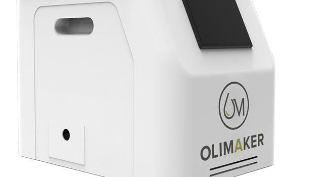 La máquina para hacer aceite de oliva