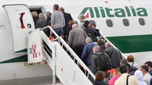 La compñía Alitalia ha sido una de las más afectadas por la huelga