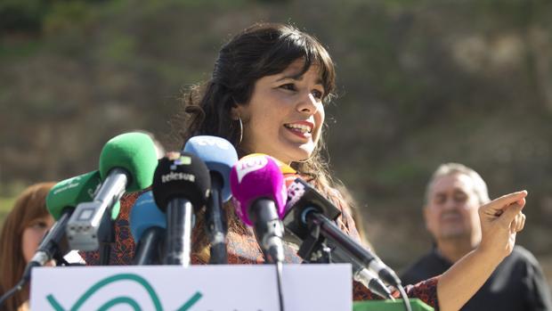 La líder regional de Podemos, Teresa Rodríguez, ayer en Málaga