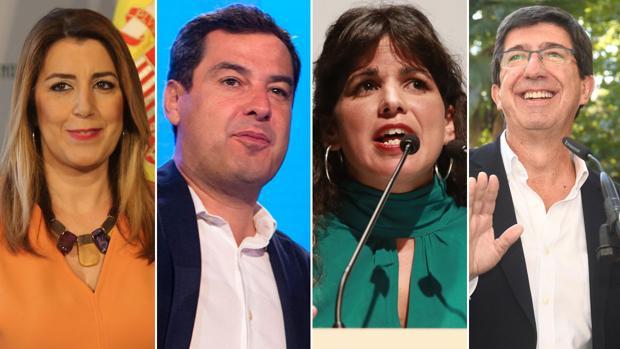 Susana Díaz (PSOE-A), Juanma Moreno (PP-A), Teresa Rodríguez (Adelante Andalucía) y Juan Marín (Cs) debatirán en Canal Sur antes de las elecciones en Andalucía 2018