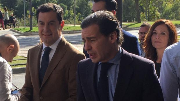 Juanma Moreno, candidatto del Partido Popular a las elecciones en Andalucía, este viernes en Jaén