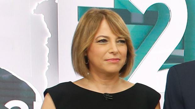 La periodista Mabel Mata, este lunes en el debate de Canal Sur