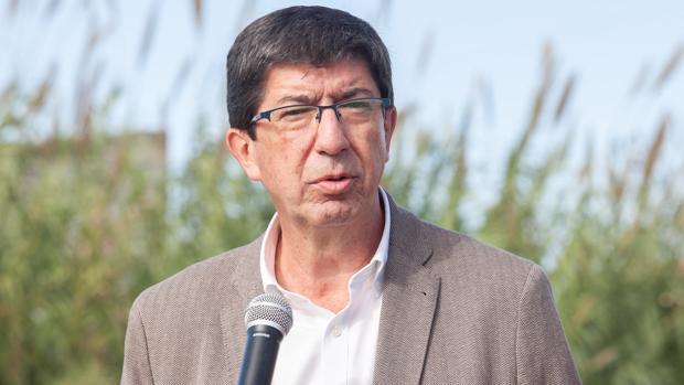 El candidato de Ciudadanos a la Presidencia de la Junta de Andalucía en estas elecciones andaluzas, Juan Marín