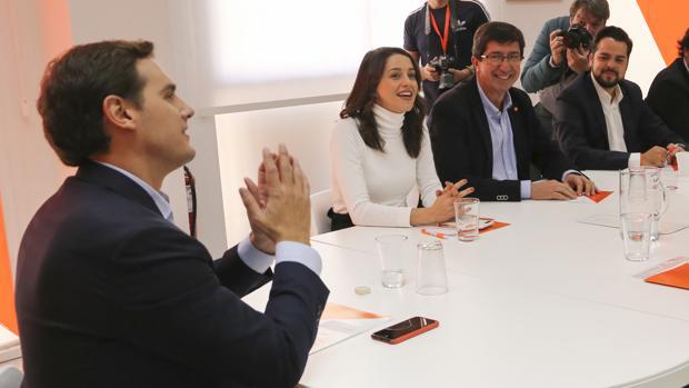 Comité ejecutivo de Ciudadanos para analizar los resultados de las elecciones en Sevilla