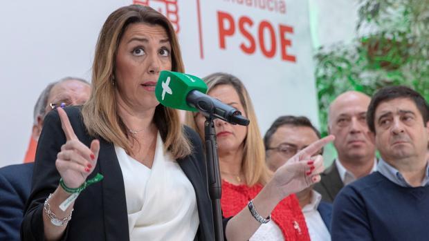 La presidenta de la Junta en funciones, Susana Díaz